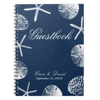 Seashell del tema de la playa de los azules libro de apuntes
