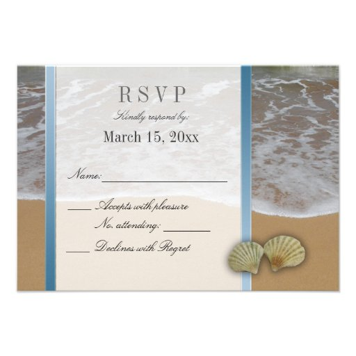seashell destination wedding diy rsvp 35quot x 5quot invitation With electronic destination wedding invitations