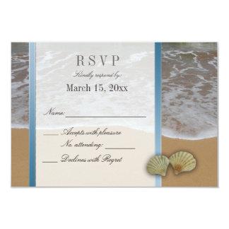 Seashell Destination Wedding DIY RSVP 3.5x5 Paper Invitation Card