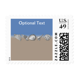 Seashell Drawing Art Postage