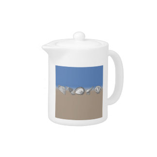 Seashell Drawing Art Teapot