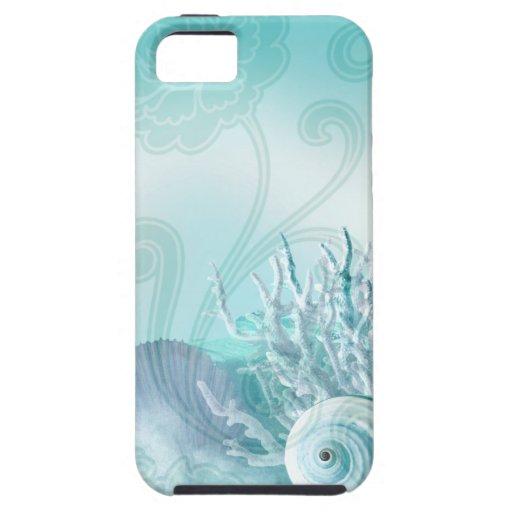 Seashell Dreams aqua iPhone SE/5/5s Case