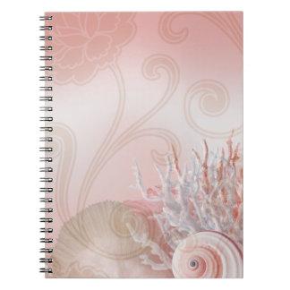 Seashell Dreams Beach Wedding pink Notebook