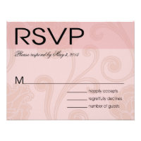 Seashell Dreams Beach Wedding RSVP pink Personalized Announcement
