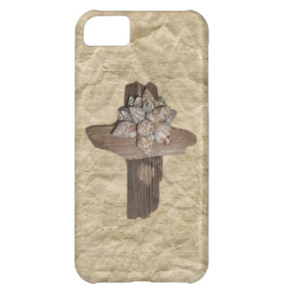 Seashell Driftwood Cross Christian Cover For iPhone 5C