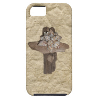 Seashell Driftwood Cross Christian iPhone 5 Covers