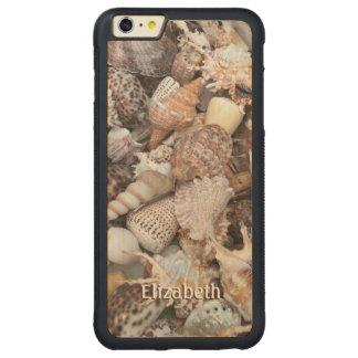 Seashell exótico personalizado funda de arce bumper carved® para iPhone 6 plus