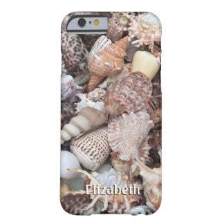 Seashell exótico personalizado funda de iPhone 6 barely there