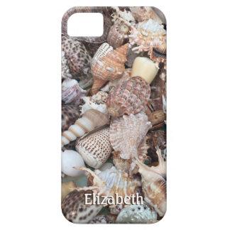 Seashell exótico personalizado funda para iPhone 5 barely there