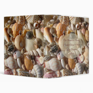 Seashell Family Vacation Album 3 Ring Binder