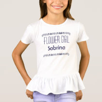 Seashell Flower Girl Beach Wedding Tee