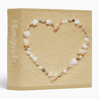 "Seashell Heart 1.5"" Photo Album Binders"