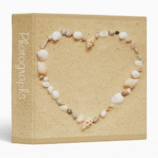 "Seashell Heart 1.5"" Photo Album Binder"