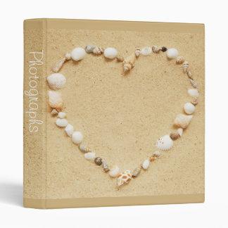 "Seashell Heart 1"" Photo Album Binder"
