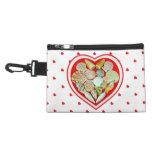 Seashell heart accessory bag