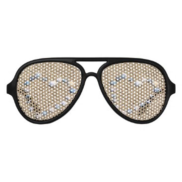 Beach Themed Seashell heart aviator sunglasses