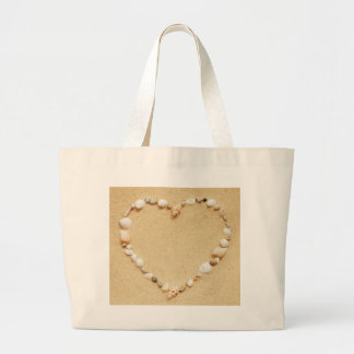 Seashell Heart Tote Bags