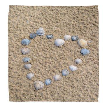 Beach Themed Seashell heart bandana