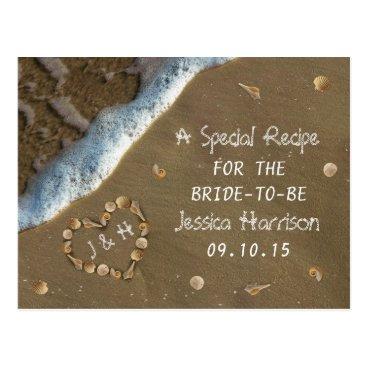 Invitation_Republic Seashell Heart Beach Bridal Shower Recipe Cards