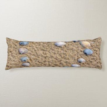 Beach Themed Seashell heart body pillow