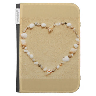 Seashell Heart Kindle Keyboard Case