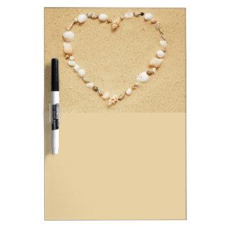 Seashell Heart Dry Erase Whiteboards