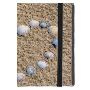 Beach Themed Seashell heart iPad mini covers