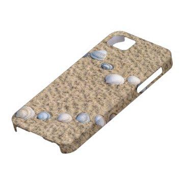 Beach Themed Seashell heart iPhone SE/5/5s case