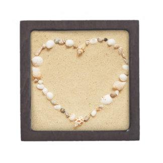 Seashell Heart Keepsake Box