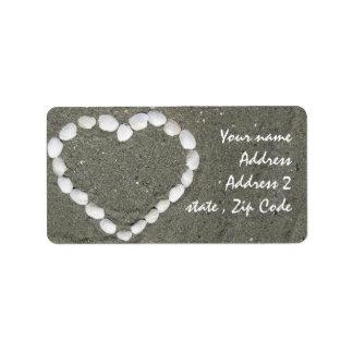 Seashell heart label