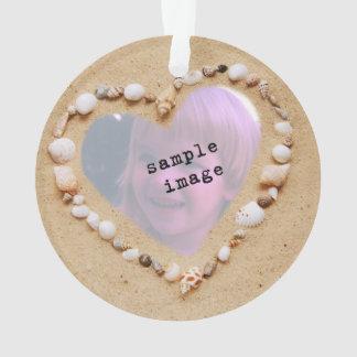 Seashell Heart Photo Template