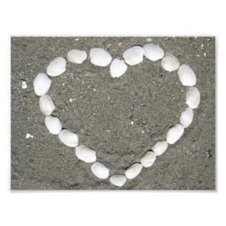 Seashell Heart Art Photo