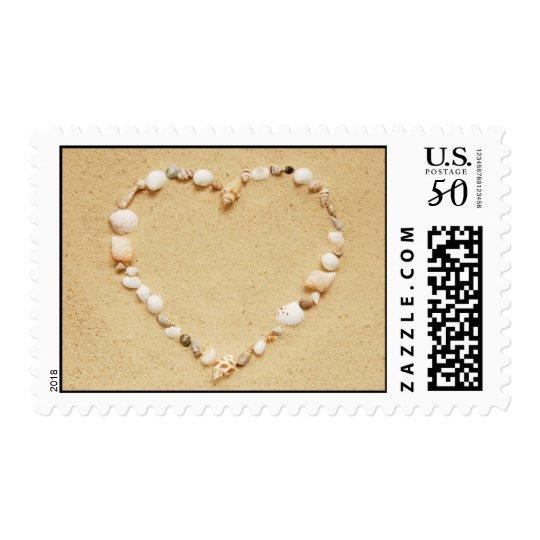 Seashell Heart Postage