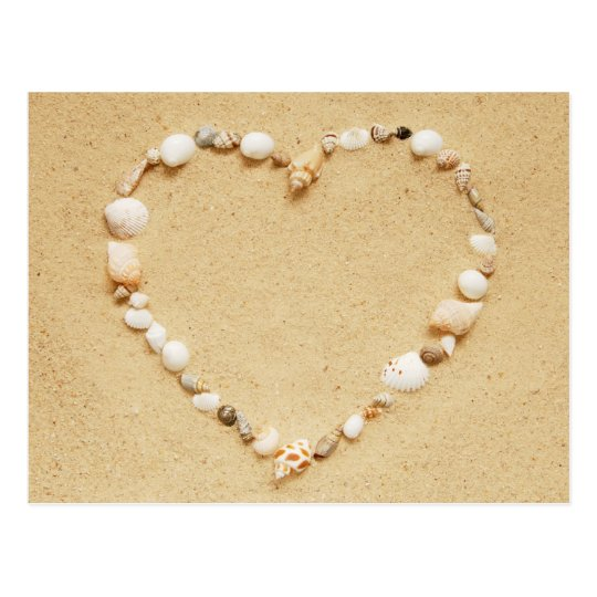 Seashell Heart Postcard