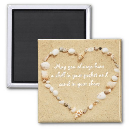Seashell Heart Quote Magnet