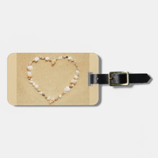 Seashell Heart Tag For Luggage