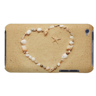 Seashell Heart with Starfish Barely There iPod Cover