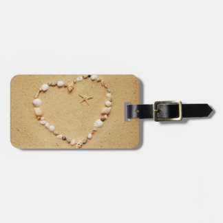 Seashell Heart with Starfish Tag For Luggage