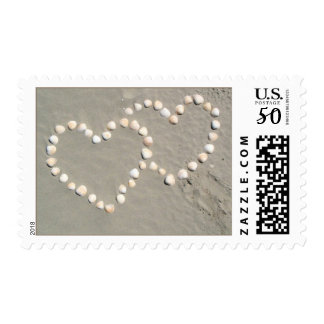 Seashell Hearts in the Sand Stamps
