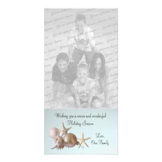 Seashell Holiday Greeting Photo Card