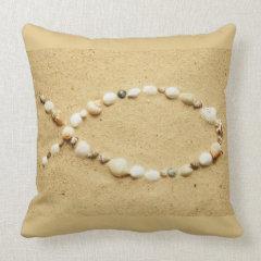 Seashell Ichthys Throw Pillow