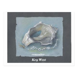 SEASHELL_Key del oeste Tarjetas Postales