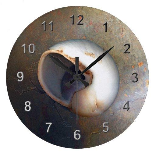 Seashell large clock zazzle for Seashell clock