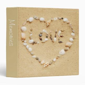 "Seashell Love 1.5"" Photo Album 3 Ring Binder"