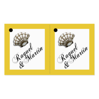 Seashell Luxe 2-Up Favor Gift Tags Business Cards
