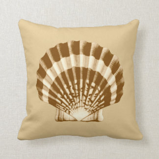 Seashell - marrón y beige cojin