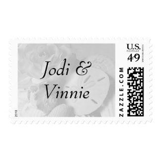 Seashell Matching Wedding Invitation Stamps Stamp