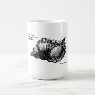 """Seashell mug """"Cymatium parthenopeum von Salis"""""""