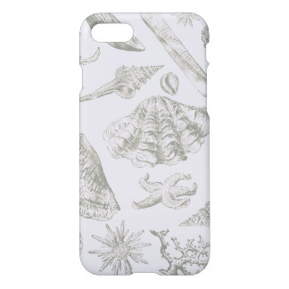 Seashell Ocean Beach Art Print Vintage Pattern iPhone 8/7 Case