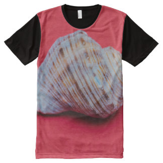 Seashell on a red background All-Over-Print T-Shirt